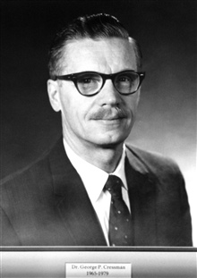 Dr. George P. Cressman, head of the Weather Bureau 1965-1979.