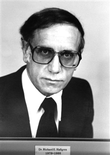 Dr. Richard E. Hallgren, head of the National Weather Service, 1979-1988.