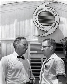 Robert Simpson on left, co-developer of the Saffir-Simpson Hurricane IntensityScale.