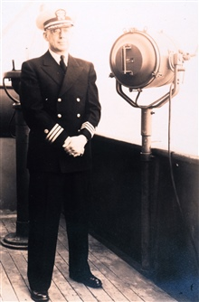 Captain Roland D. Horne, commanding officer of the Coast and Geodetic SurveyShip EXPLORER.