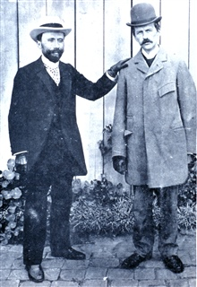 Teisserenc de Bort, (1855-1913) discoverer of the stratosphere, with Abbott Lawrence Rotch (1861-1912), founder of the Blue HillMeteorological Observatory and a pioneer in upper atmosphere observations.