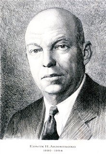 Edwin H. Armstrong, a radio engineer who was instrumental in developing FM radio. Used for weather broadcasts.  (1890-1954.)
