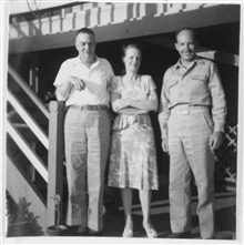 Brick and Leila Maynard with Major Marvin Paulson.  Brick was a long-timePhilippine employee of the Coast and Geodetic Survey who was an Army reservistas well.  He was captured at the fall of Corregidor and was incarcerated for the duration of the wa