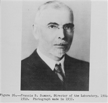 Francis B. Sumner, Director of the Laboratory, 1904-1910.The Story of the BCF Biological Laboratory Woods Hole, Massachusetts, by P. S.