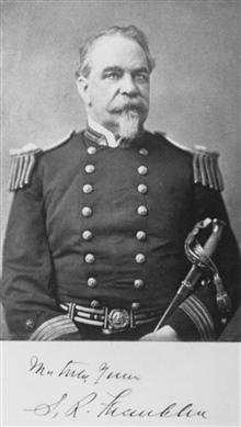 Rear Admiral S. R. Franklin, USN.  Served on the Brig Dolphin attempting deep-sea soundings in 1852-53.