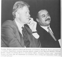 President William Jefferson Clinton and Secretary of Commerce Ron Brown.