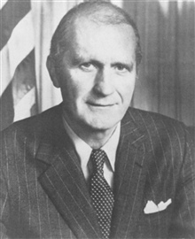 Malcom Baldrige,  1922-1987,  twenty-sixth Secretary of Commerce.
