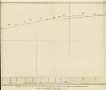 Middle section of survey line run by Lt. Joseph Dayman on HMS CYCLOPSduring telegraph cable survey of 1857.  The work of Berryman and Dayman betweenin 1856 and 1857 respectively marked a new era in ocean exploration, thebeginning of systematic survey