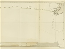 Eastern section of survey line run by Lt. Joseph Dayman on HMS CYCLOPSduring telegraph cable survey of 1857.  The work of Berryman and Dayman betweenin 1856 and 1857 respectively marked a new era in ocean exploration, thebeginning of systematic surve
