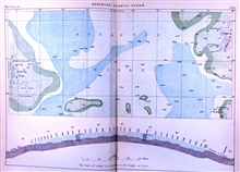 Map of the North Atlantic Ocean published on the eve of the CHALLENGERExpedition in The ocean, atmosphere, and life.... by the French geographerElisee Reclus.  This map shows some very large non-existent shoals to the eastof Newfoundland as well  a d