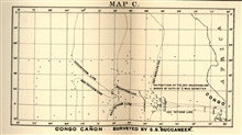 Map of the Congo Canyon as surveyed by the Cable Ship BUCCANEER, byEdward Stallibrass, a British telegraph engineer, as published in 1887 inDeep-Sea Sounding in Connection with Submarine Telegraphy, Journal of theSociety of Telegraph-Engineers and El