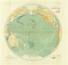 Sir John Murray's map of the Pacific Ocean, Chart 1B, accompanying theSummary of Results of the Challenger Expedition, 1895.