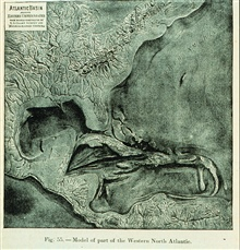 3-D view of the Gulf of Mexico, Eastern U.S., and Western Atlantic.This is probably the first 3-dimensional seafloor view ever constructed.  It waspublished in Three Cruises of the BLAKE, by Alexander Agassiz, 1888.  P. 94.Library Call Number QH 93.A