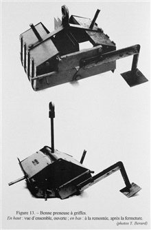 Figure 13. A clamshell type grab sampler - this device was meantto grab material from the upper layers of seafloor sedimentfor study of the embedded fauna.