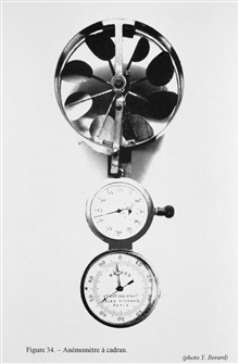 Figure 34.  Anemometer and dial - an anemometer of this type was shown in thecatalog of the firm of Richard Brothers in 1886.