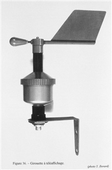 Figure 36.  A modern wind direction indicator or weathervane that would transmit wind direction to a recording device.  The use and history of this instrumentis impossible to determine.