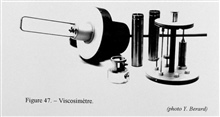Figure 47.  Viscometer, used to measure the viscosity of a liquid.  Thisinstrument worked by measuring the force which opposed the rotation of a disk ora cylinder which was immersed in the liquid.