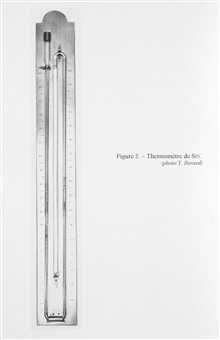 Figure 2.  Six's thermometer devised by James Six in 1782.  Six devised maximumand minimum reading thermometers and in a posthumous publication (1794) suggested the adaptation of the maximum/minimum reading thermometers for use in thedeep sea.
