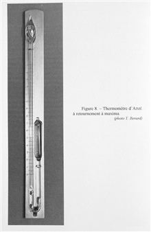 Figure 8.  Aime' maximum temperature recording thermometer.  He described thisinstrument in 1845 and it operated in a similar manner to the minimum thermometer.