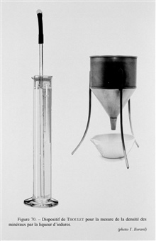 Figure 70. Thoulet device for measuring the density of minerals by means of aniodine solution.  The method used in image ship4445 was very crude but thisdevice gave a real measurement, which although a long and delicate process,could be very precise.