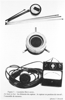 Figure 3. Brouardel's luxmeter.  This instrument was constructed in 1956 at theOceanographic Museum of Monaco by Jean Brouardel and Emile Rinck for theirstudies on the primary production in the Mediterranean Sea according to themethods of Steeman Nie