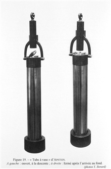 Figure 19.  Apstein's mud sampler - an instrument described in the catalog ofthe German Section of the International Oceanographic and Marine FisheriesExposition of 1906 as a sediment sampler although it appears to be morelikely that it was meant to