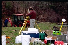 The soil at the dam removal site is tested for possible contaminants to preventleaching or erosion into the stream bed when removing the dam. The site is alsobeing searched for any significant archeological remains before the finaldigging begins. The