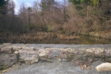 The pond above the dam at the Town Brook dam removal site.