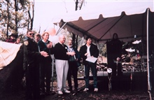 The awards ceremony at the dedication event