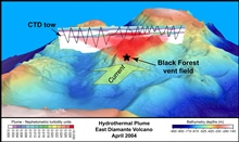 Pacific Ring of Fire Expedition.  East Diamante Volcano showing Black Forestvent field.