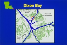 An overview of Dixon Bay in map form.