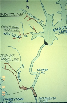 A map of the Iron Mountain Mine area
