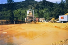 An acid mine drainage (AMD) treatment plant at Iron Mountain Mine, sludgecontainment.