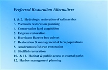 preferred restoration alternatives for the New Bedford Harbor Superfund site.