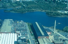 From Fairhaven, a view of New Bedford and the Aerovox facility, one of thecontamination sources of PCBs.