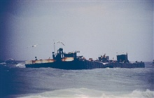 North Cape Barge, grounded on Moonstone Beach, South Kingstown, RI 1996