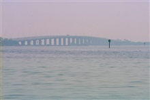 A view of Tampa Bay and the causeway.