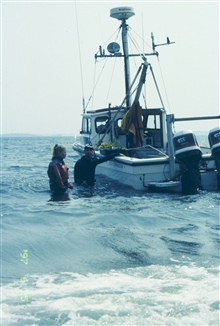 A RI EPA vessel was donated for the 1997 transplant operation. The staging areawas off Prudence Island.