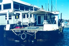 A close-up of the Snug Harbor, one of the vessels that was used to transportquahogs from their original homes to the new spawner sanctuaries.