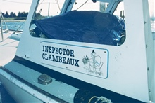 The vessel used by RI DEM to inspect shellfish harvests.