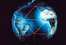 The worldwide satellite triangulation camera station network.