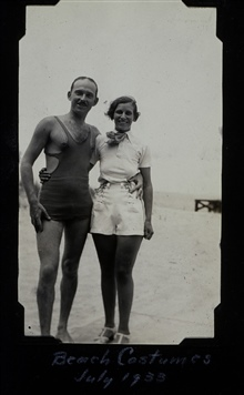 Ray Tryon and wife.In beach costumes.