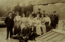 Officers and wives of the GEDNEY.