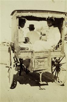 Hubert A. Paton and Bloomberg in a Cebu cart.Liberty from the PATHFINDER.