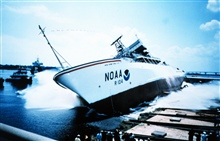 The launching of the NOAA Ship RONALD H. BROWN