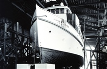 Building the JOHN N. COBB.  This ship was built as aBureau of Commercial Fisheries vessel but became a NOAA vessel in 1970.