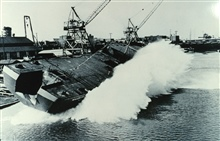 Launching of the MILLER FREEMAN at 11:30 A.M. on April 2, 1966.