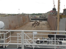 View of drydock from NOAA Ship PISCES
