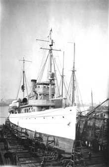 USC&GS; Ship PIONEER in drydock.