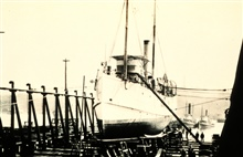 Coast and Geodetic Survey Steamer MCARTHUR I.In service 1876-1915.At the Hall Brothers Marine Railway.